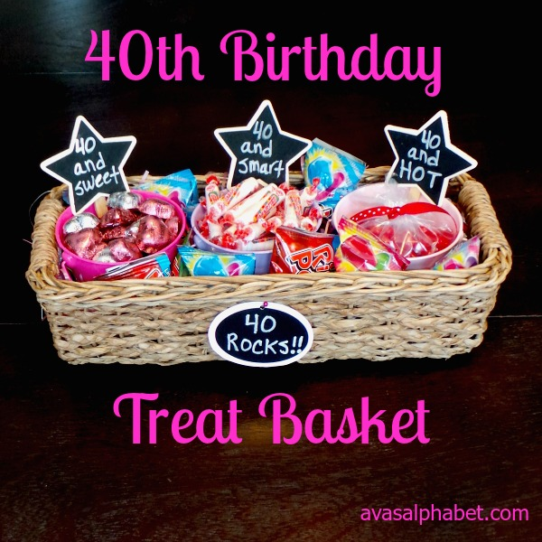 40th Birthday Basket