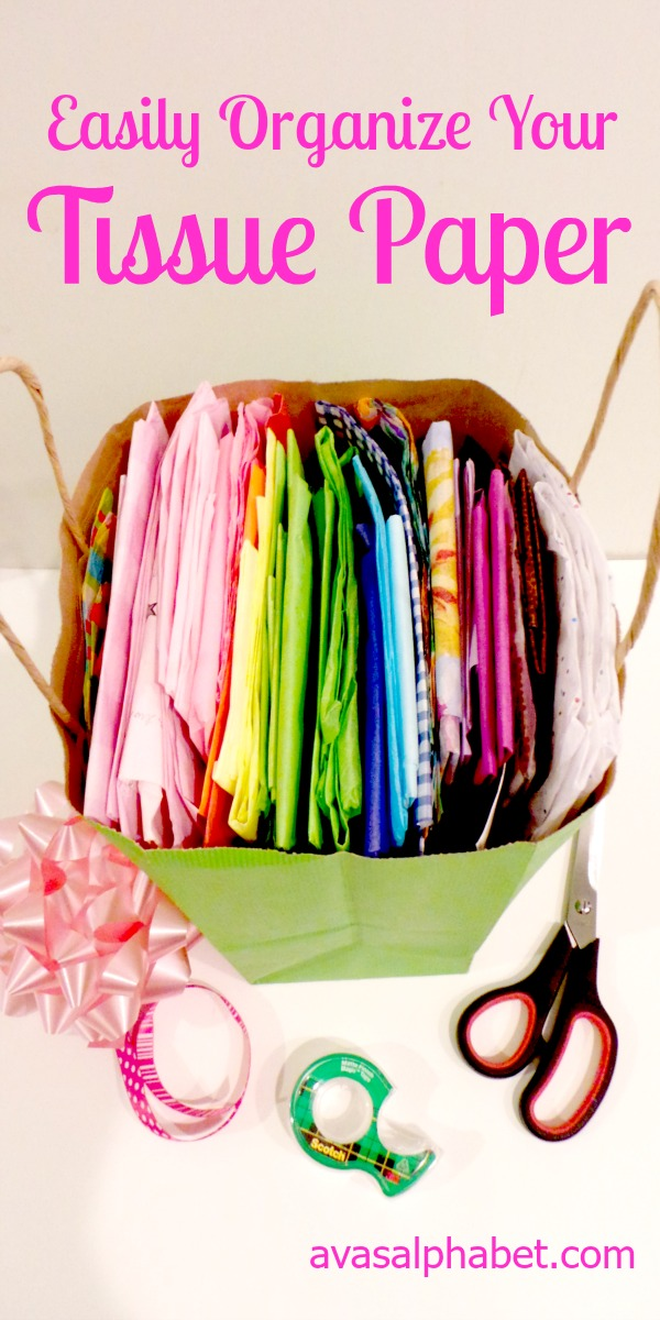 Easily Organize Your Tissue Paper