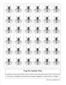 Frog Fly Catcher Craft Printable Flies