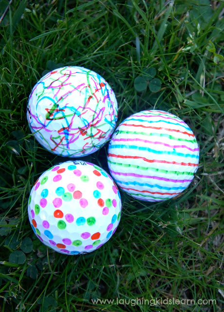 Decorated Golf Balls
