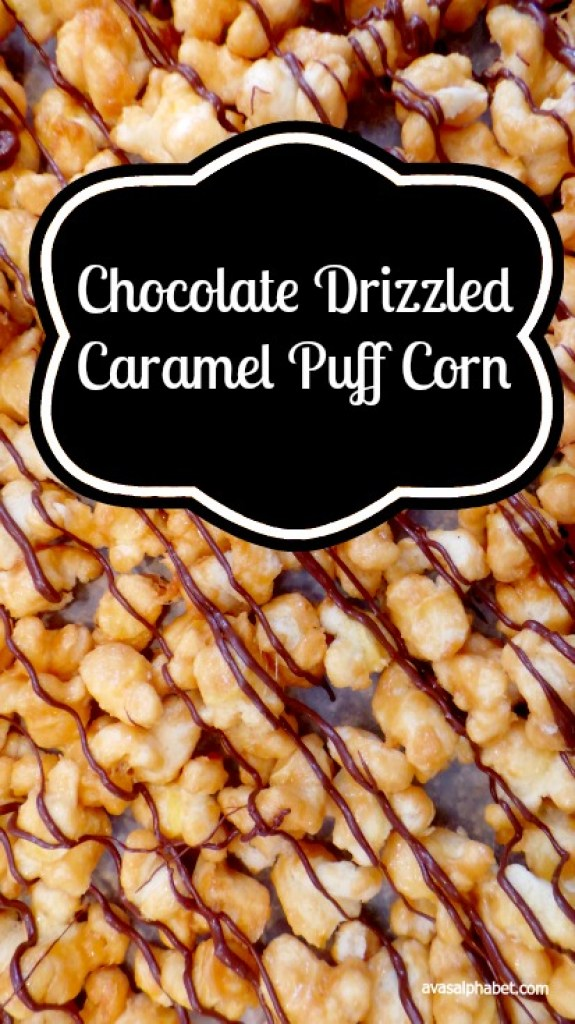 Chocolate Drizzled Caramel Puff Corn - Best of 2016