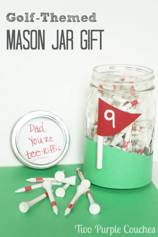Golf Themed Mason Jar Gift