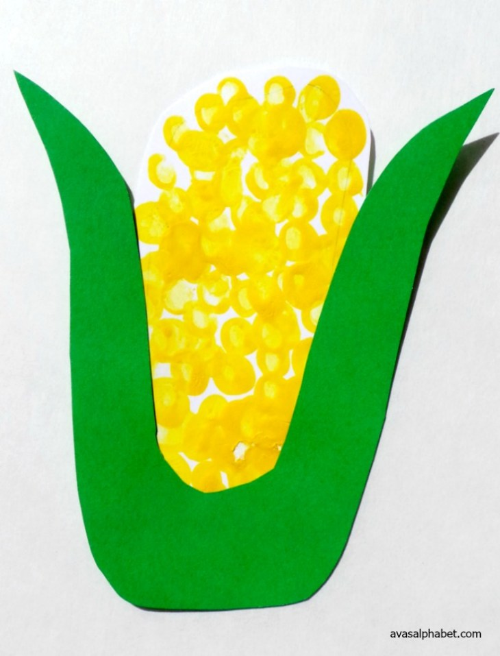 Vegetable Prints - Corn