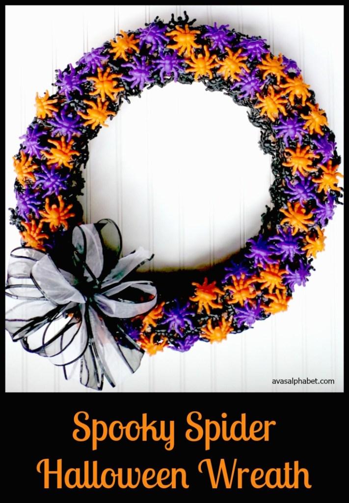 Spooky Spider Halloween Wreath