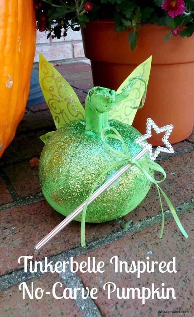 Tinkerbelle Inspired No-Carve Pumpkin