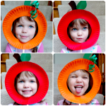 Paper Plate Pumpkin & Apple Masks
