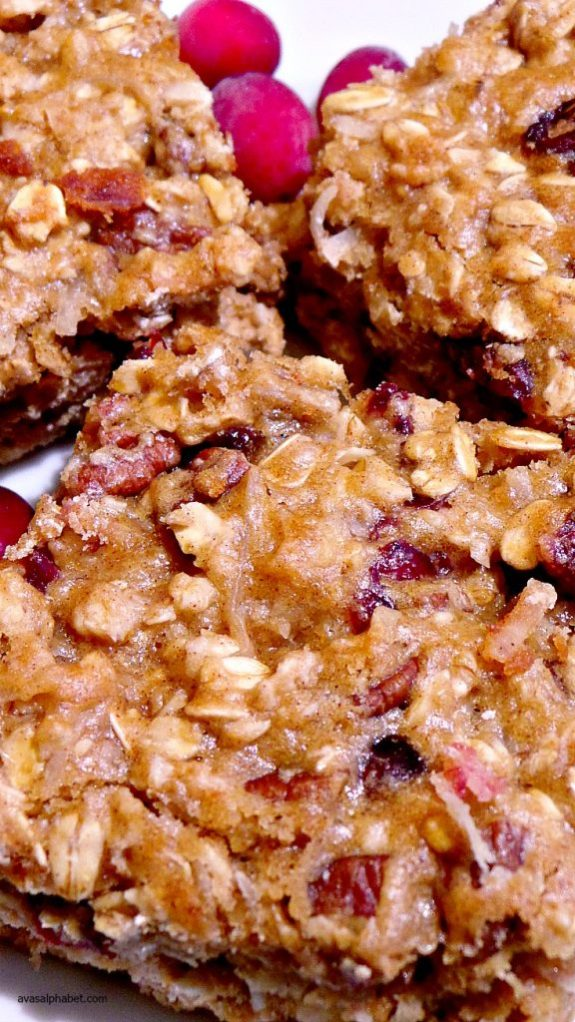 Cranberry Oatmeal Pecan Bars