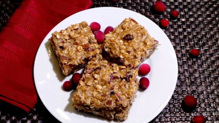 Cranberry Oatmeal Pecan Bars