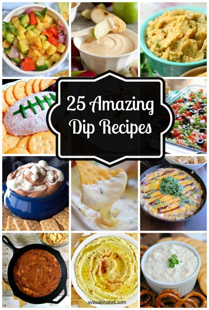 25 Amazing Dip Recipes from Ava's Alphabet