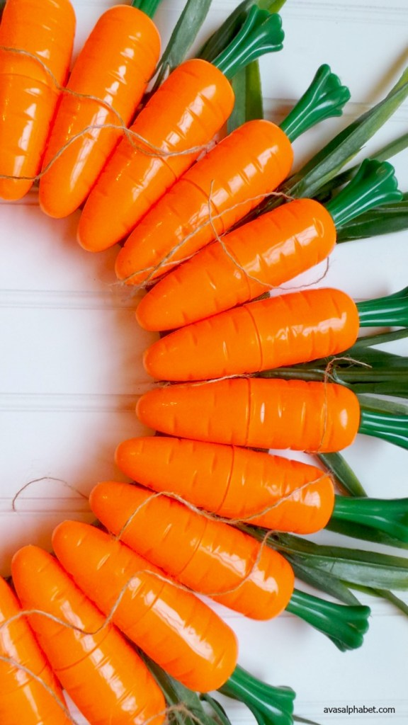 DIY Carrot Wreath for Spring from Ava's Alphabet
