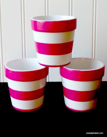 Hand Painted Flowerpots for Mother's Day from Ava's Alphabet