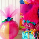 Trolls Inspired Beach Ball Party Favors from Ava's Alphabet