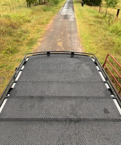 Nissan NV3500 roof rack from Avatar Metal Works with perforated decking