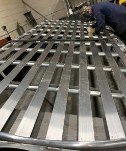 nissan nv 3500 roof rack being built