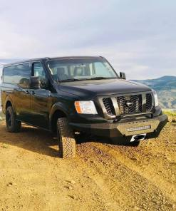 Nissan NV3500 Single Jack lightbar front bumper from avatar on top of a mountain
