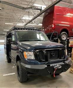 nissan nv3500 winch front-bumper double jack roof-rack