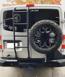 Nissan NV3500 rear bumper with right side swing and left side rear ladder from Avatar