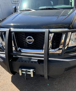 Pioneer front bumper with winch from Avatar Metal Works for the Nissan NV 3500