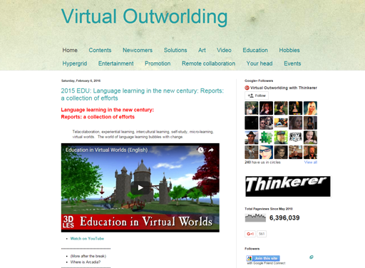 Virtual Outworlding Blog