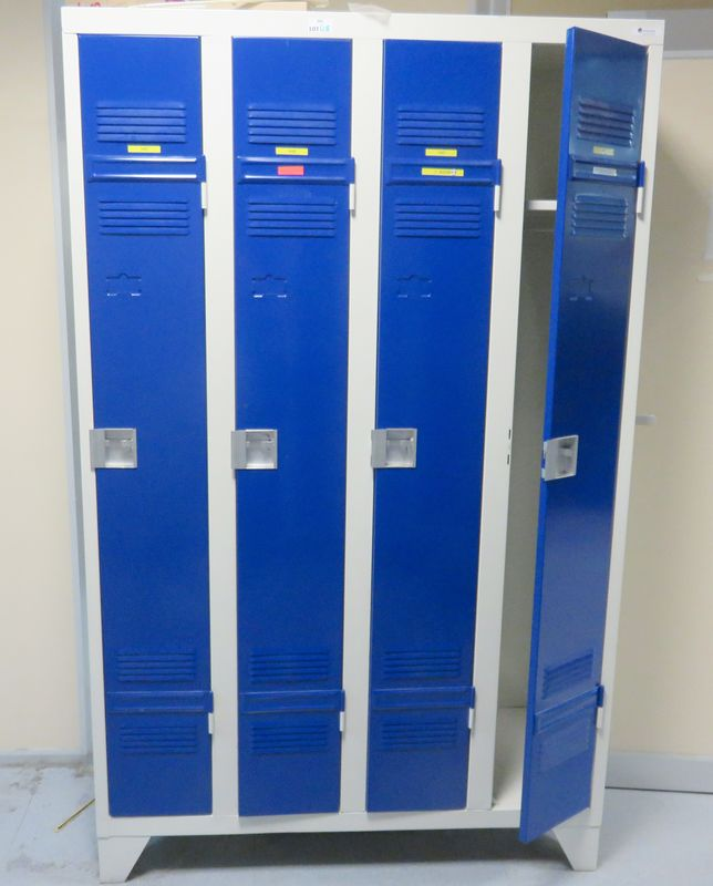 Vestiaire Metallique 2 Ou 4 Casiers De Couleur Bleu Etou