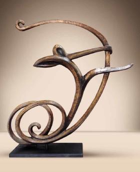 Sculpture homme qui roule