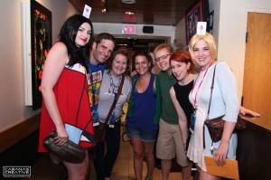 Jess, Louis, Teija, Lauren, Henri, Me, Amy Friday night dinner at Benihana. Dragon Con 2013. Photo courtesy of Kris Cabanas