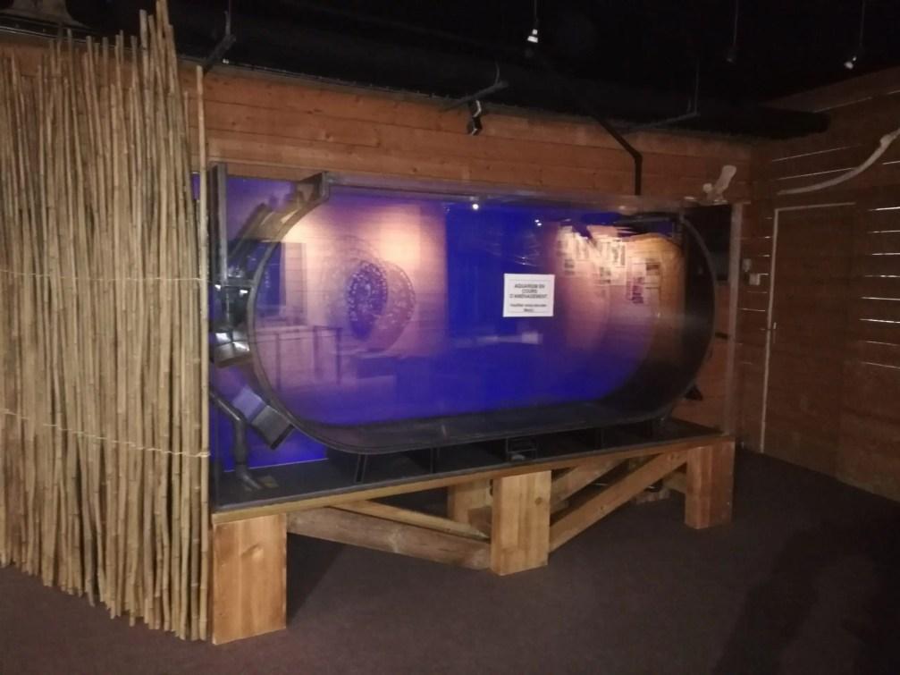 Aquarium à méduses de 3 mètres X 1m50.