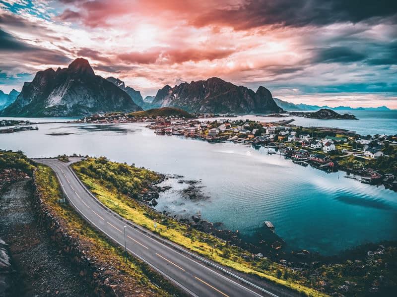 Lofoton Islands in Norway