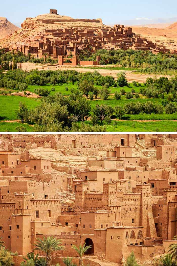 "Ait Benhaddou is an impressive fortified city made up of many ""kasbahs"". A kasbah is buildings made entirely from mud and straw. Click through to see 25 more of the most beautiful villages in the world!"