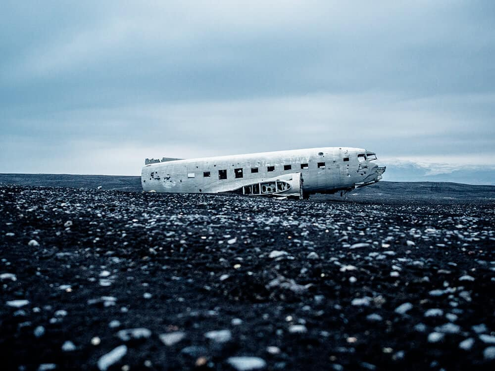 Abandoned plane in Iceland. Don't miss the top 10 things to do in Iceland!