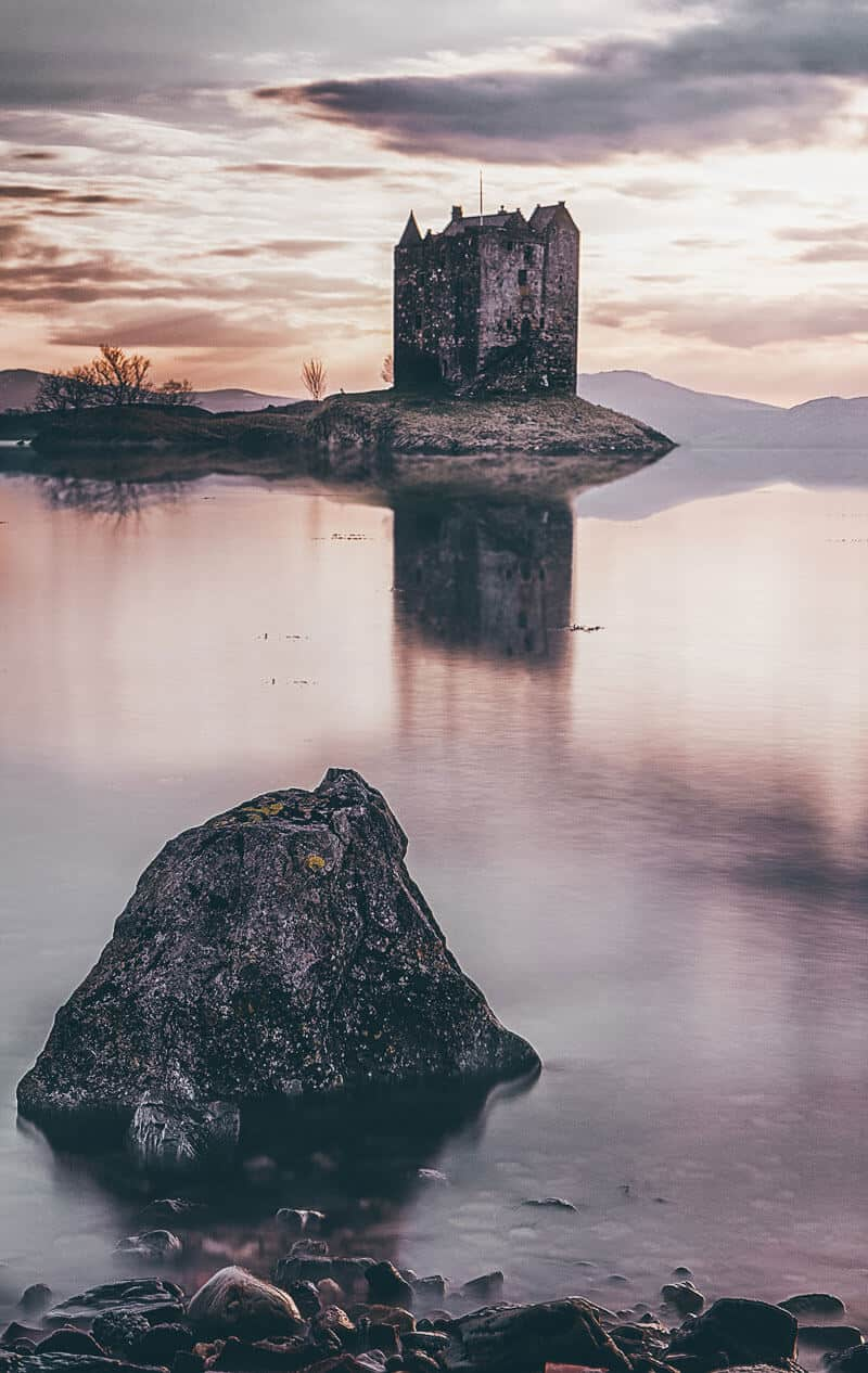 Stalker Castle in Scotland.