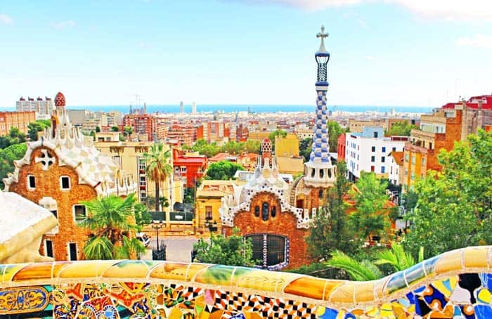 Mosaic Park, Barcelona, Spain! Click through to see some of the most colorful cities in the world! This post does not contain industrial soot stained cities; instead it showcases some of the most vibrant looking cities in the world.