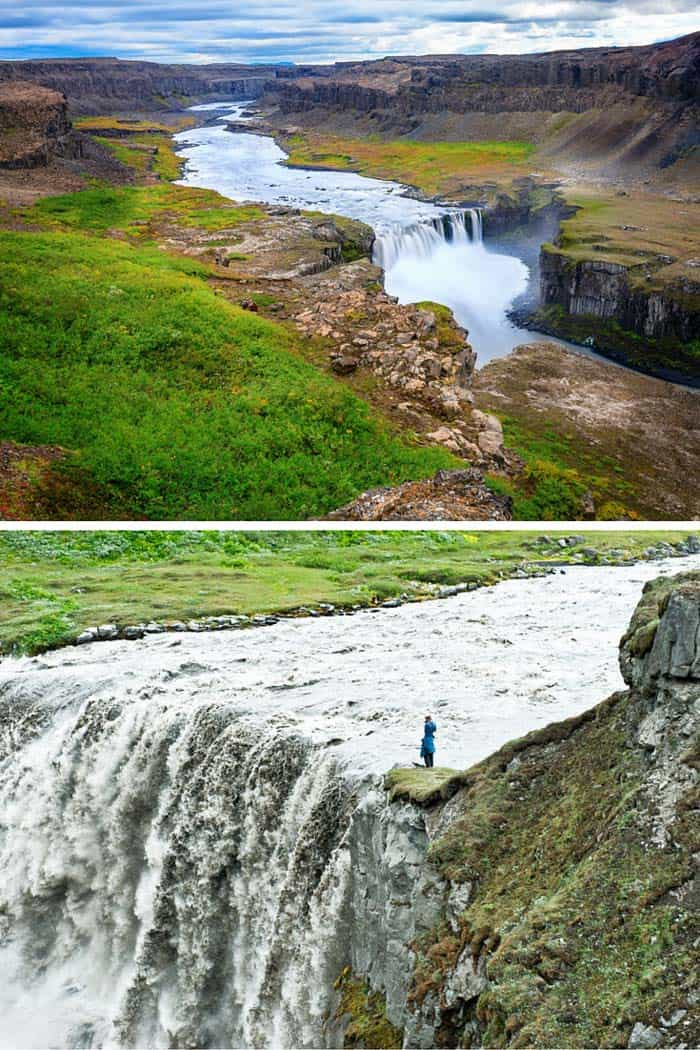 Hafragilsfoss waterfall Iceland! Click through to see 15 of the BEST waterfalls in Iceland!