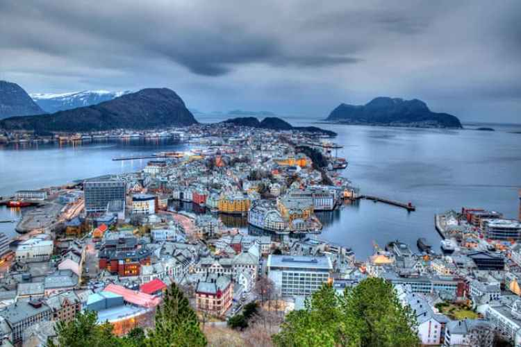 Gorgeous city of Ålesund in Norway.