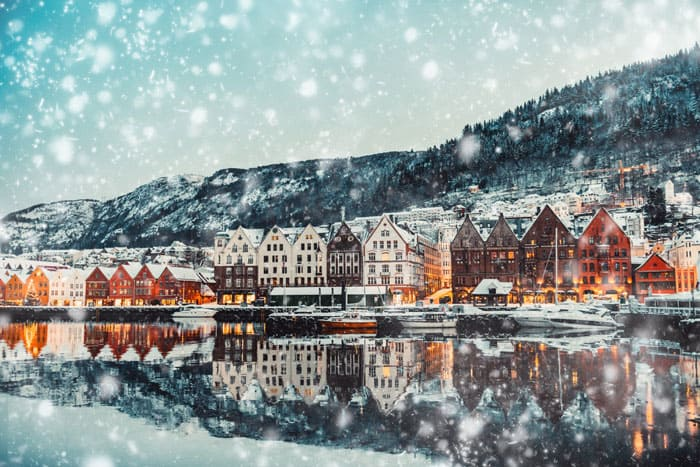 Bruges, Bergen Norway during Christmas!