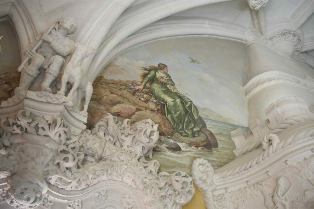 fresco palacio quinta da regaleira aventurasantona portugal
