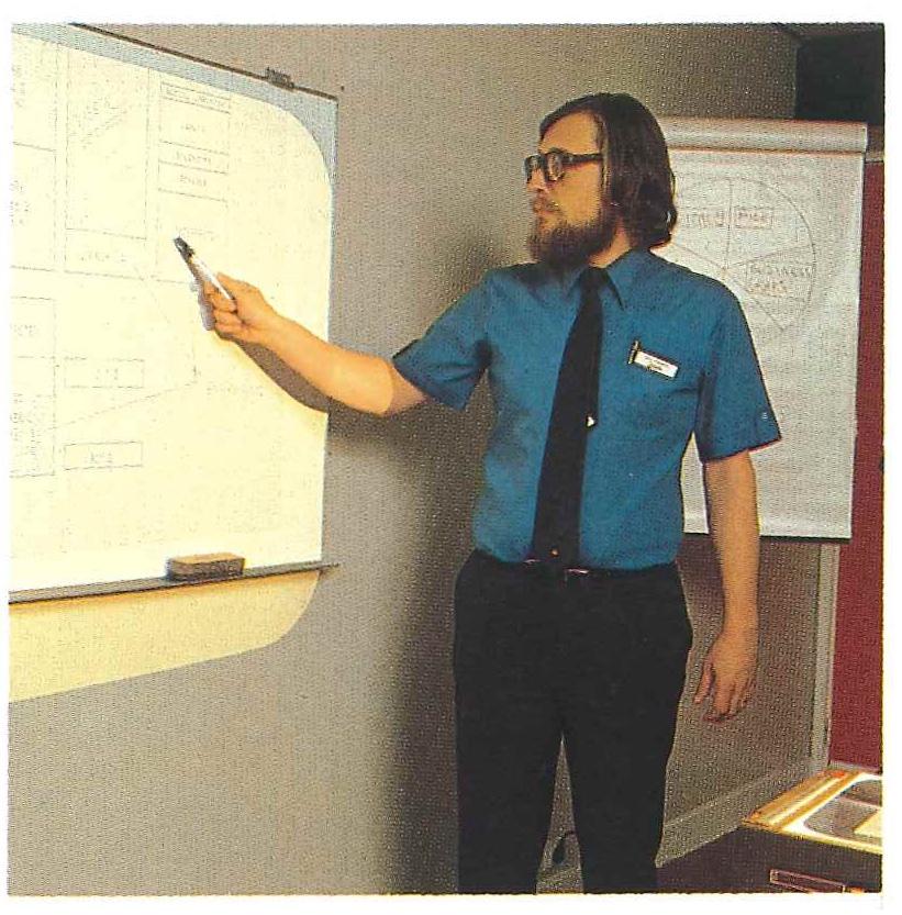 Extrait de la brochure Bienvenue chez Apple, 1983. Apple éducation