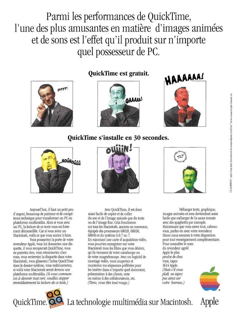 Publicité Apple de 1992 pour QuickTime