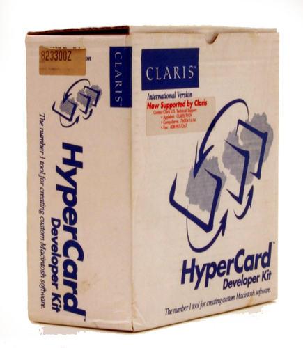 HyperCard 2.2 box by Claris