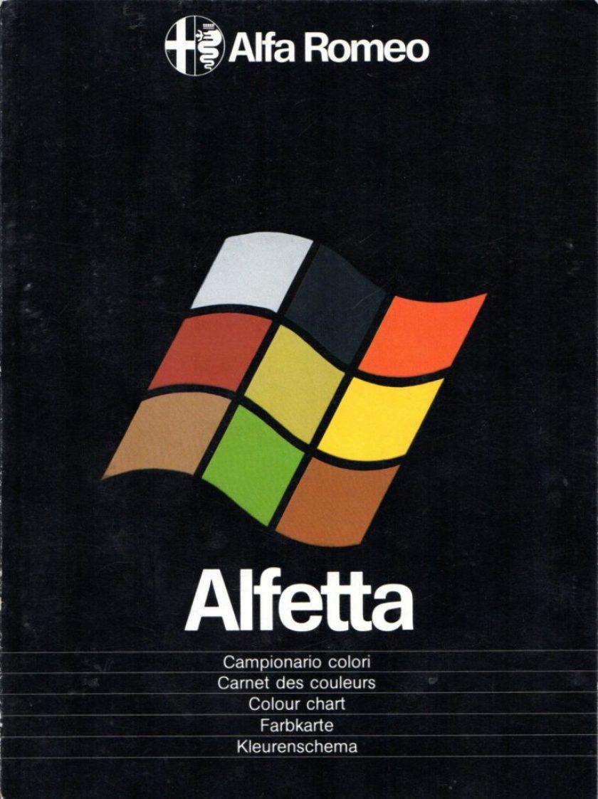 Brochure Alfa Romeo Alfetta logo Windows