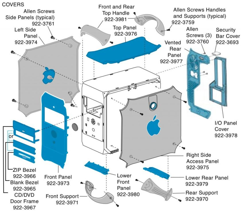 PowerMac G3 / G4 exploded view