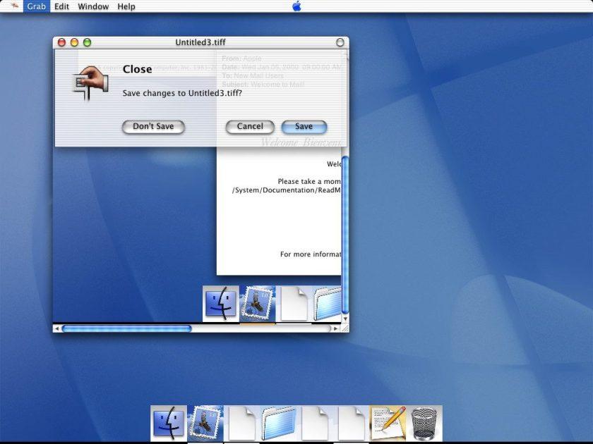 Mac OS X DP 3 - Interface Aqua