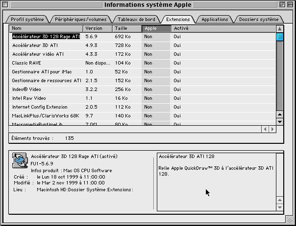 Informations Système Apple