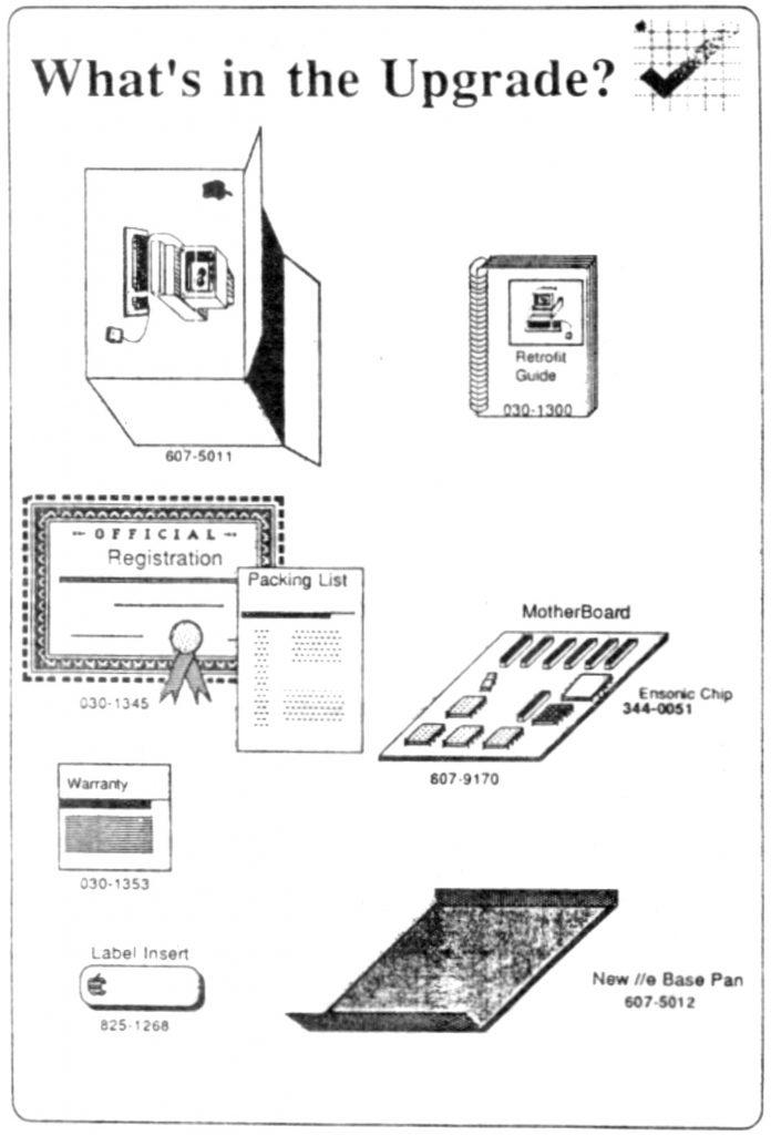 Apple IIgs upgrade kit for Apple IIe