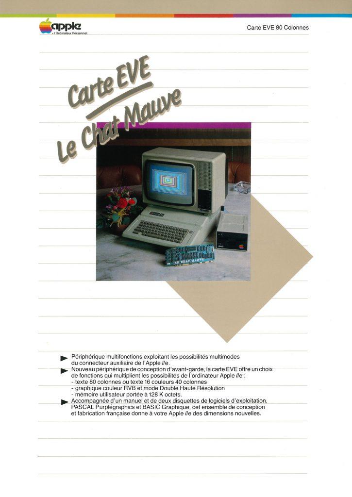 Carte 80 colonnes Le Chat Mauve EVE