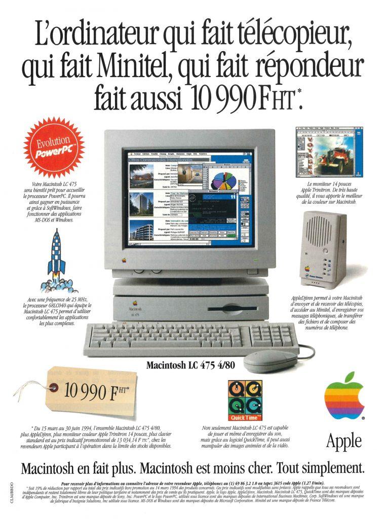 Apple Macintosh LC 475 publicité