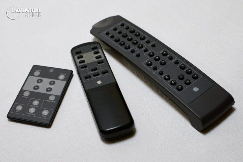 Apple remotes : Apple TV/Video system, Performa/Macintosh TV, PowerCD