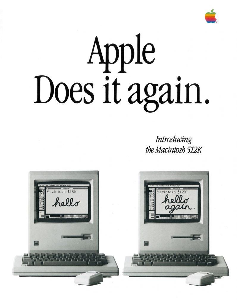 Apple does it again (Hello again Macintosh 512K)