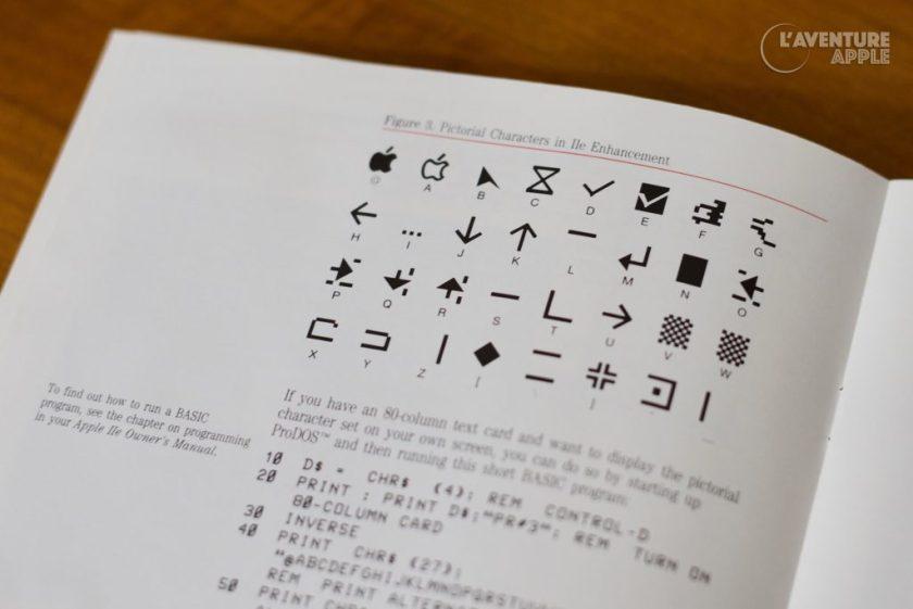Apple IIe enhanced kit pictorial characters