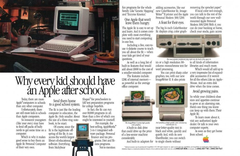 An Apple after School 1985 Apple Ad
